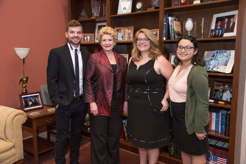 USDA National Needs Fellows with Senator Debbie Stabenow.